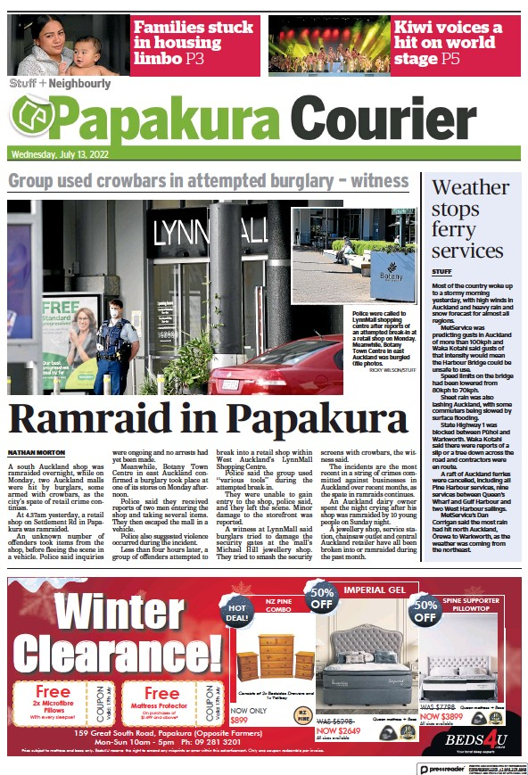 Read full digital edition of Papakura Courier newspaper from New Zealand