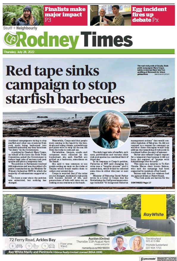 Read full digital edition of Rodney Times newspaper from New Zealand