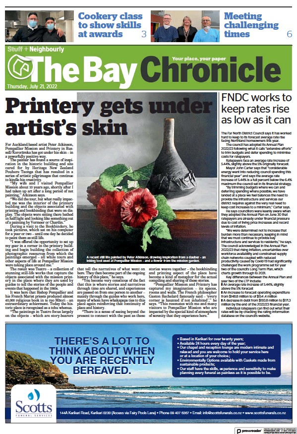 Read full digital edition of The Bay Chronicle newspaper from New Zealand