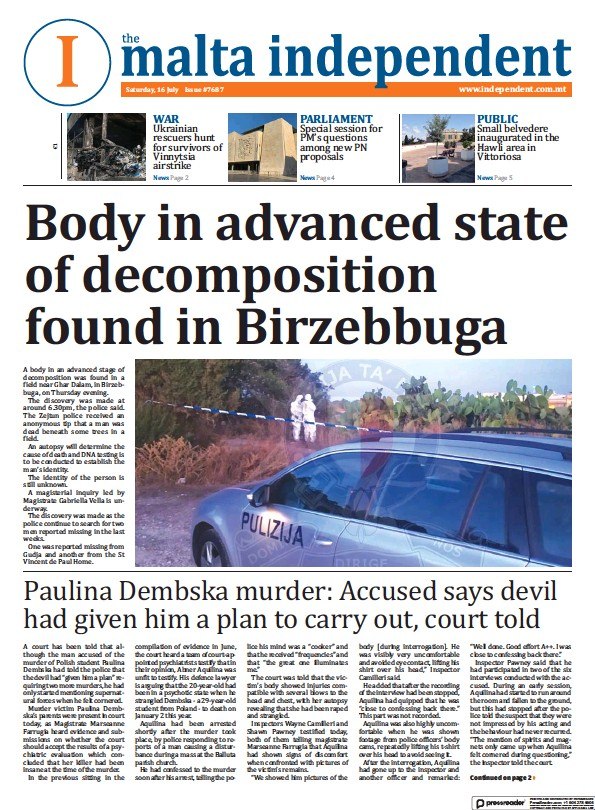 Read full digital edition of Malta Independent newspaper from Malta