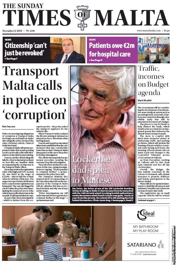 Read full digital edition of The Sunday Times of Malta newspaper from Malta