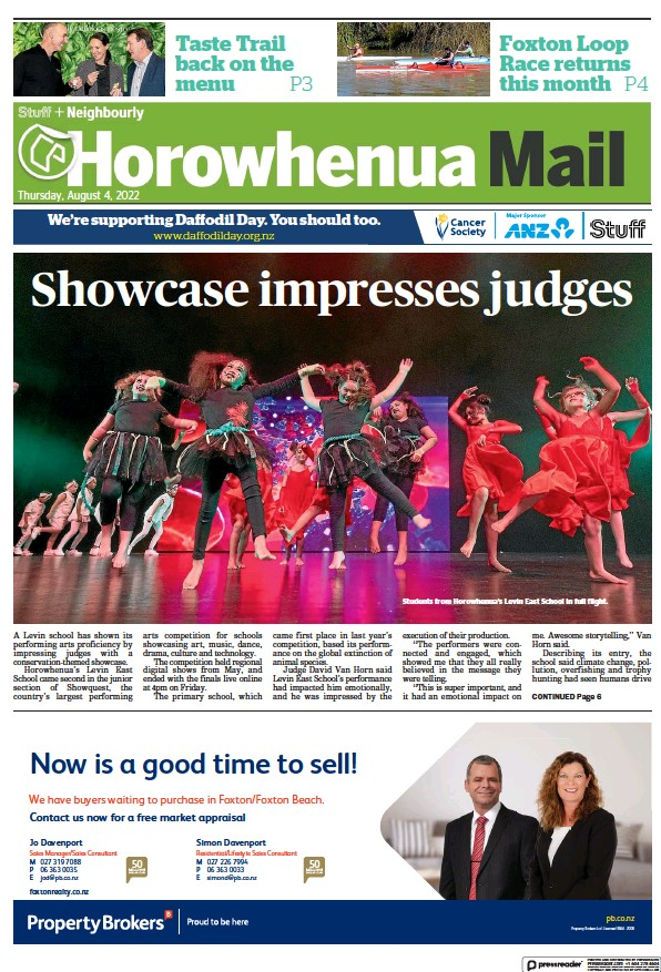 Read full digital edition of The Horowhenua Mail newspaper from New Zealand
