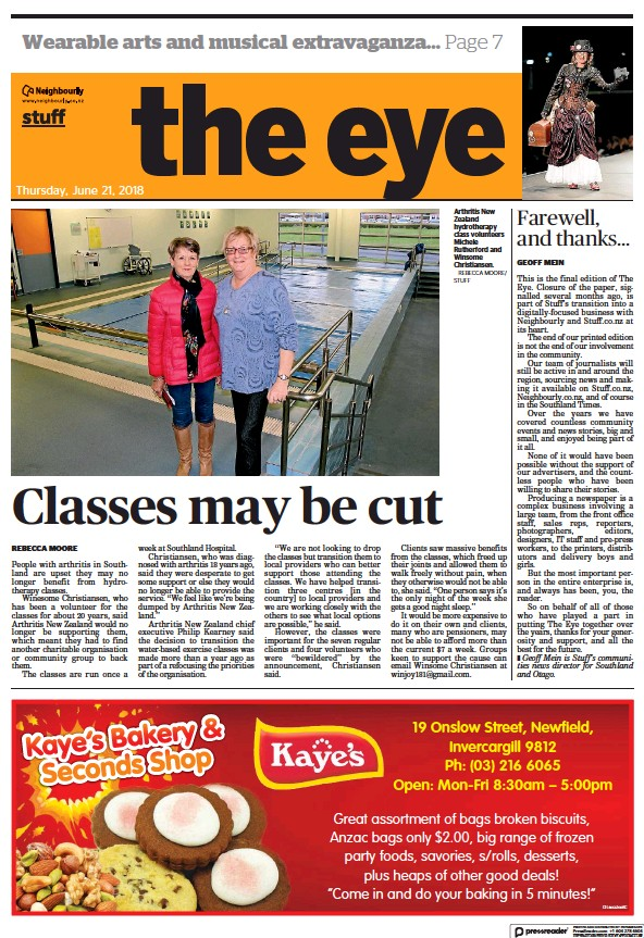 Read full digital edition of The Invercargill Eye newspaper from New Zealand