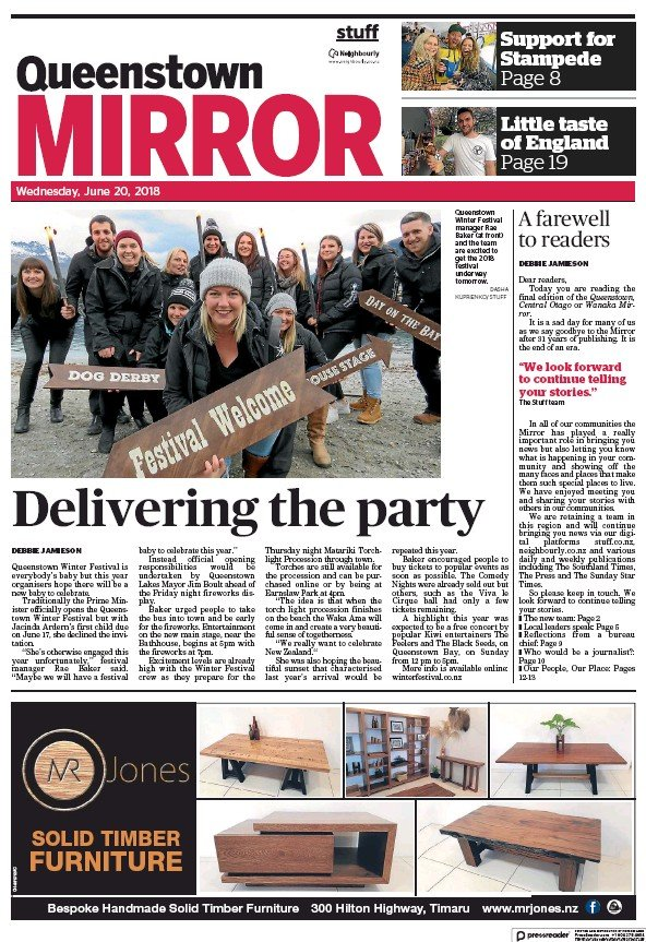 Read full digital edition of Central Otago Mirror newspaper from New Zealand