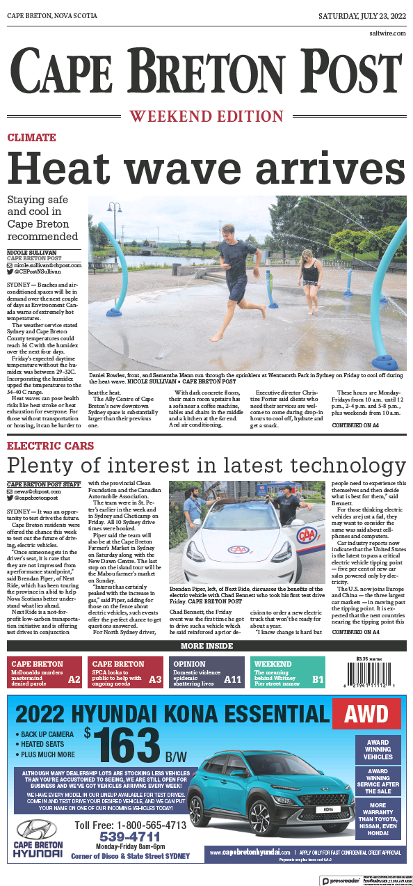 Read full digital edition of Cape Breton Post newspaper from Canada