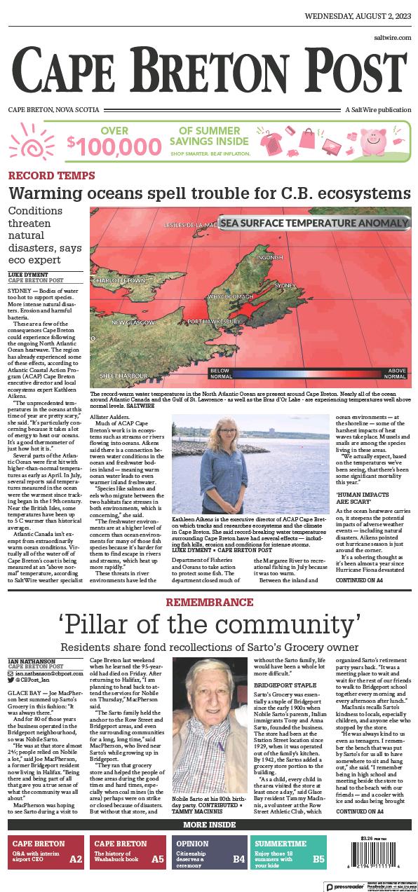 Read full digital edition of Cape Breton Post newspaper from Canada
