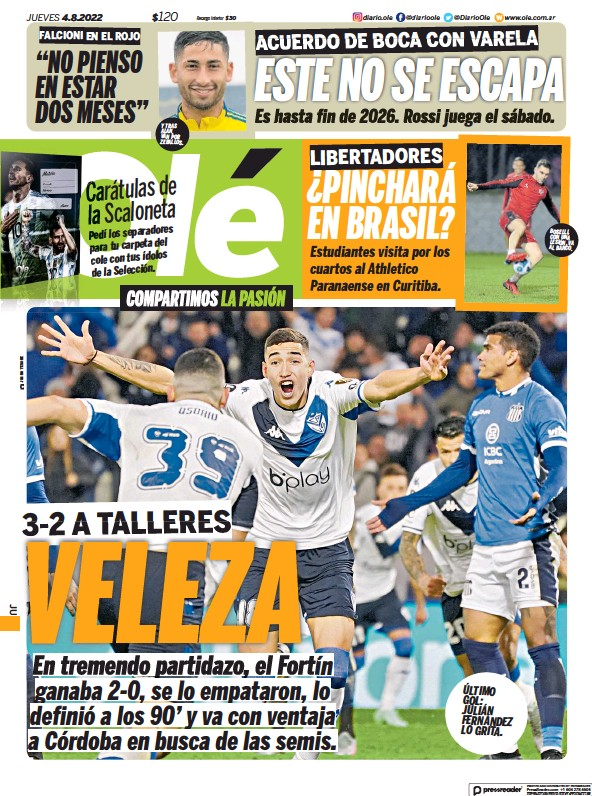 Read full digital edition of Ole newspaper from Argentina