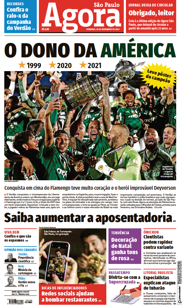 Read full digital edition of Agora newspaper from Brazil