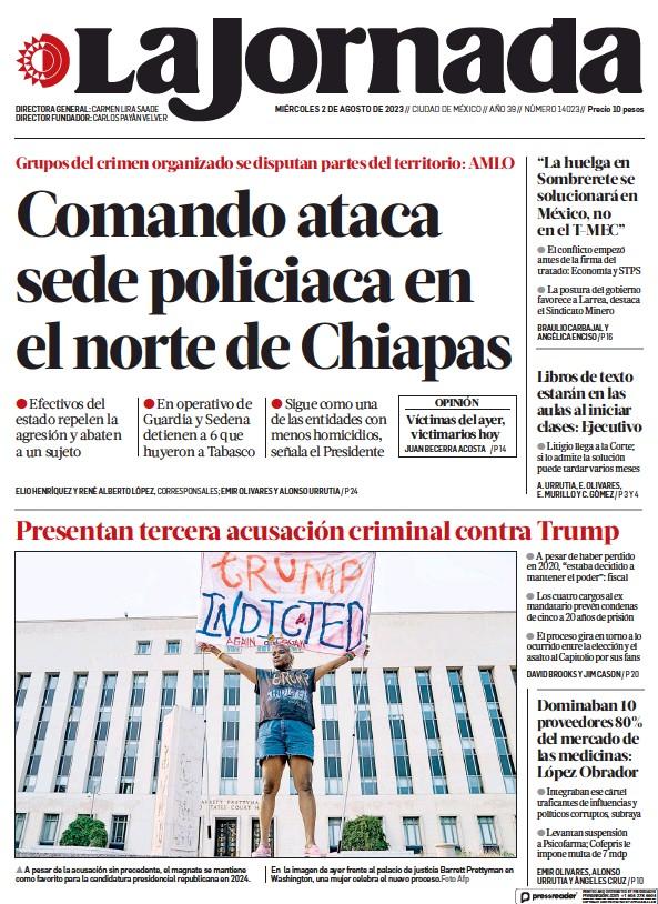 Read full digital edition of La Jornada newspaper from Mexico