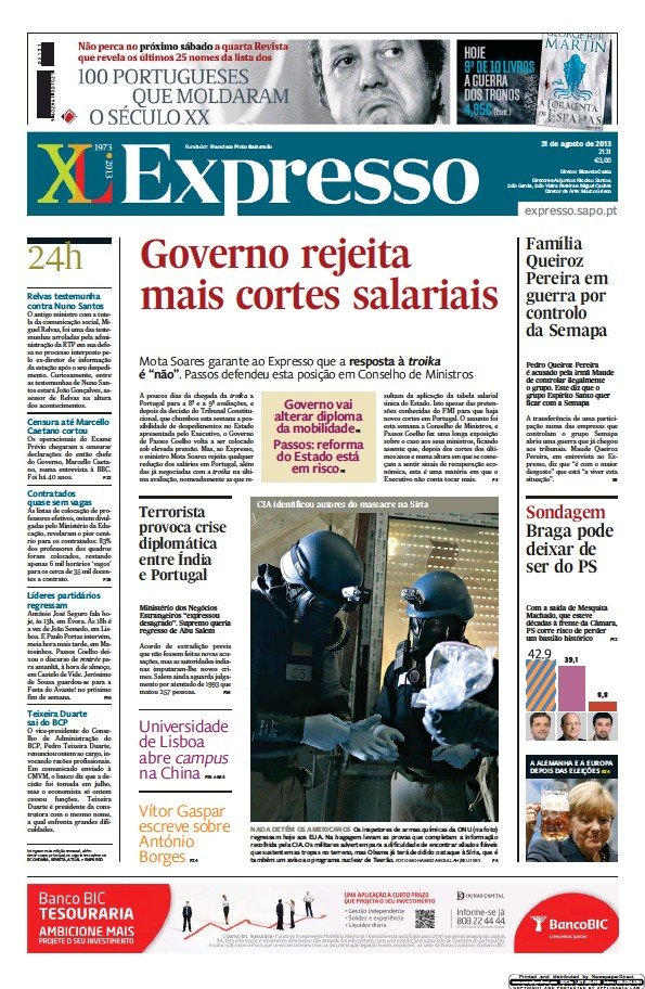 Read full digital edition of Expresso newspaper from Portugal
