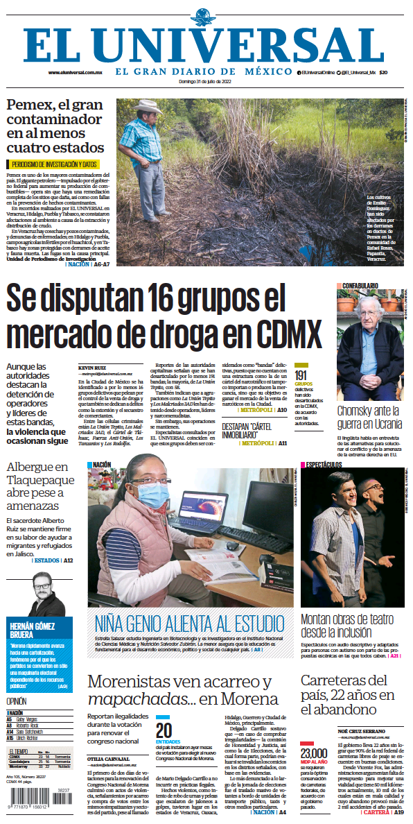 Read full digital edition of El Universal newspaper from Mexico