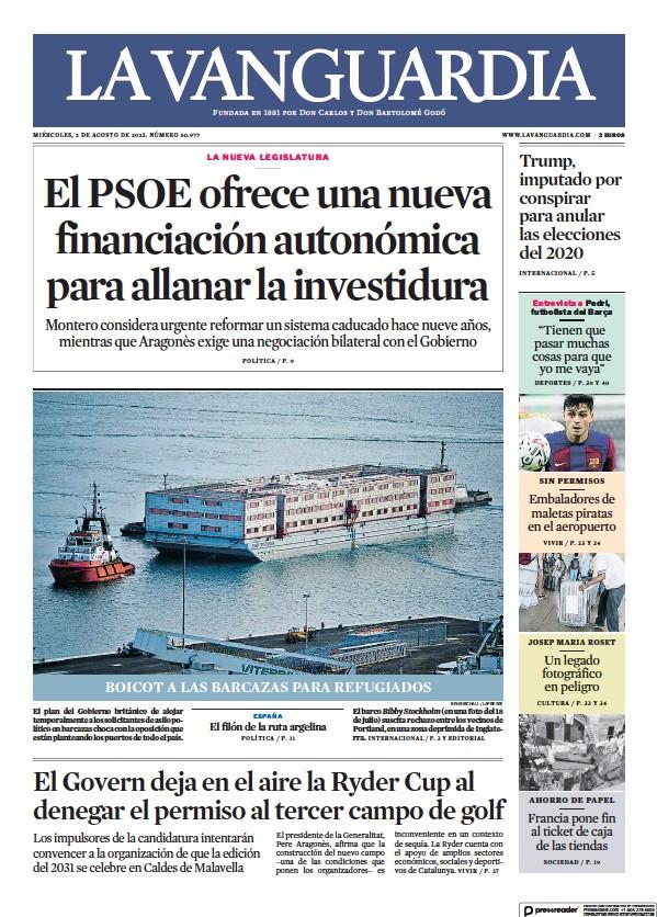 Read full digital edition of La Vanguardia newspaper from Spain