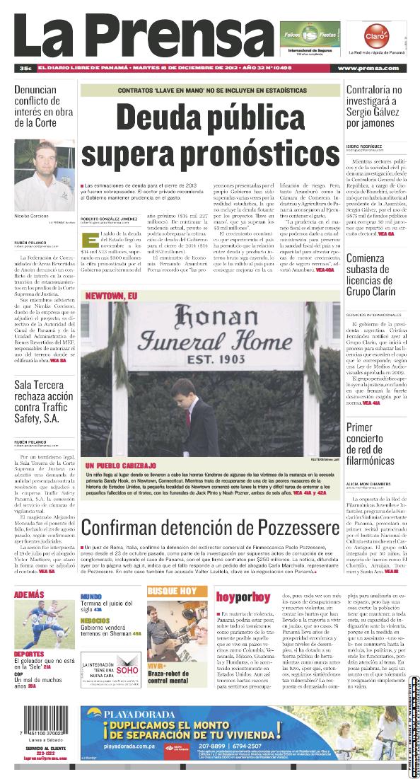 Read full digital edition of La Prensa newspaper from Panama