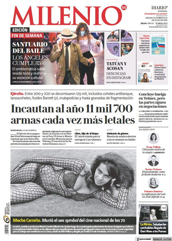 Read full digital edition of Milenio newspaper from Mexico