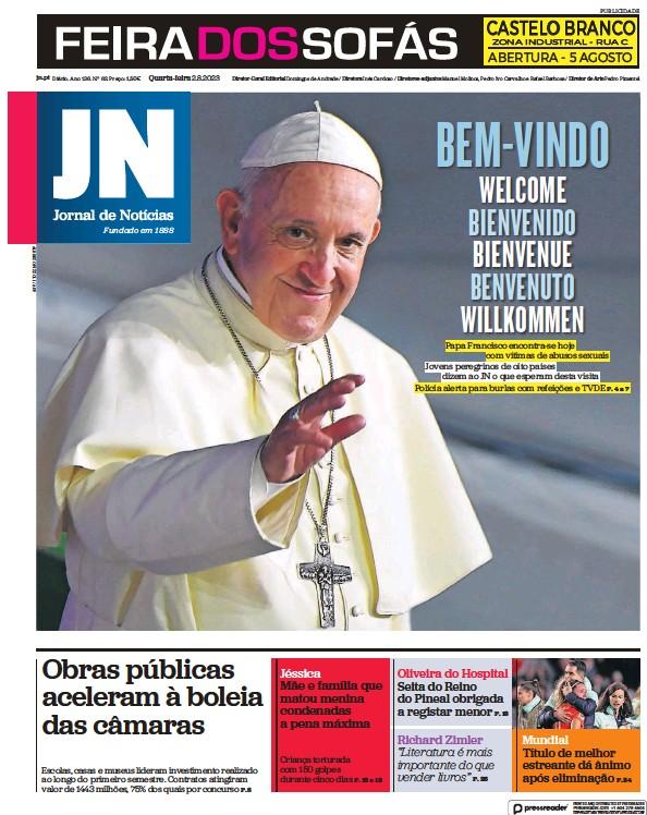 Read full digital edition of Jornal de Noticias newspaper from Portugal