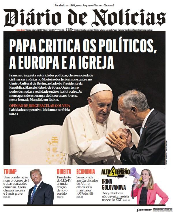 Read full digital edition of Diario de Noticias newspaper from Portugal