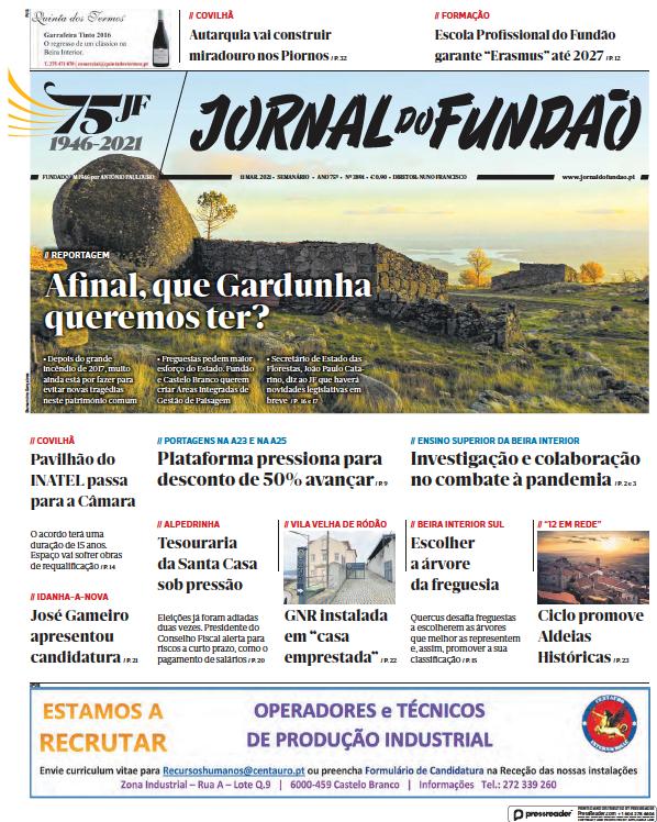 Read full digital edition of Jornal do Fundao newspaper from Portugal