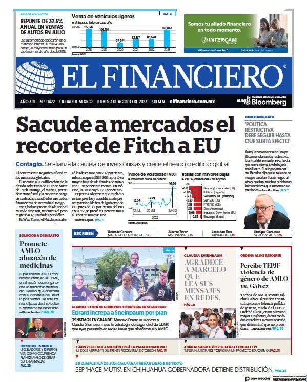 Read full digital edition of El Financiero newspaper from Mexico