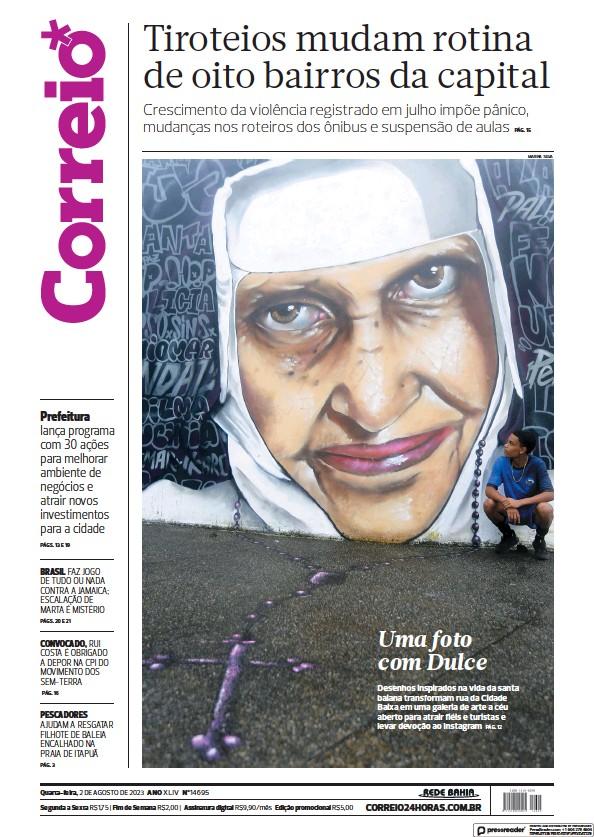 Read full digital edition of Correio da Bahia newspaper from Brazil