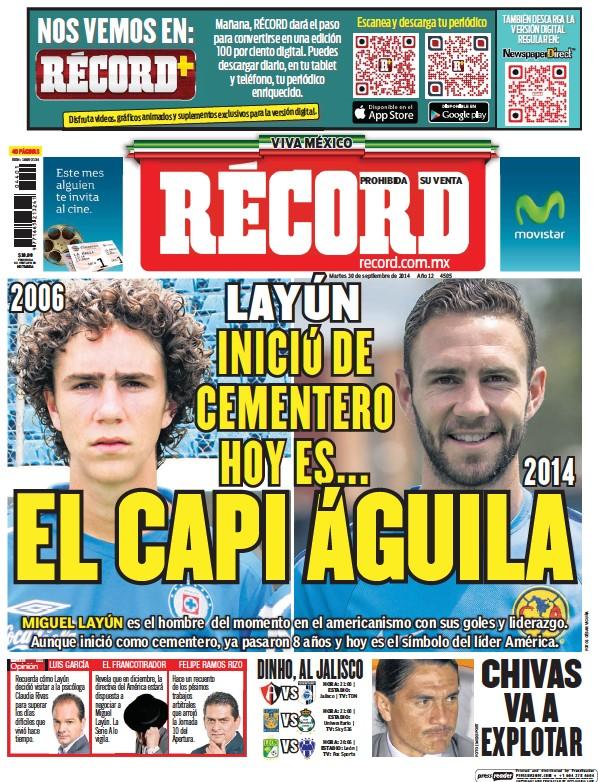 Read full digital edition of Record Guadalajara newspaper from Mexico