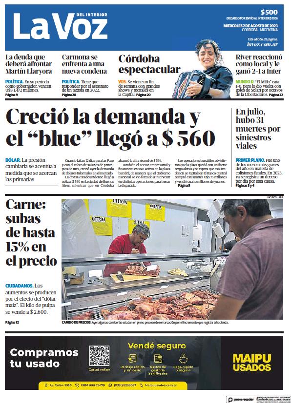 Read full digital edition of La Voz del Interior newspaper from Argentina