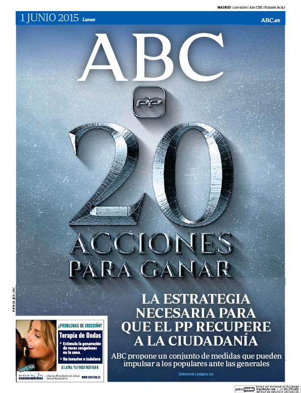 Read full digital edition of ABC (Madrid) PD newspaper from Spain