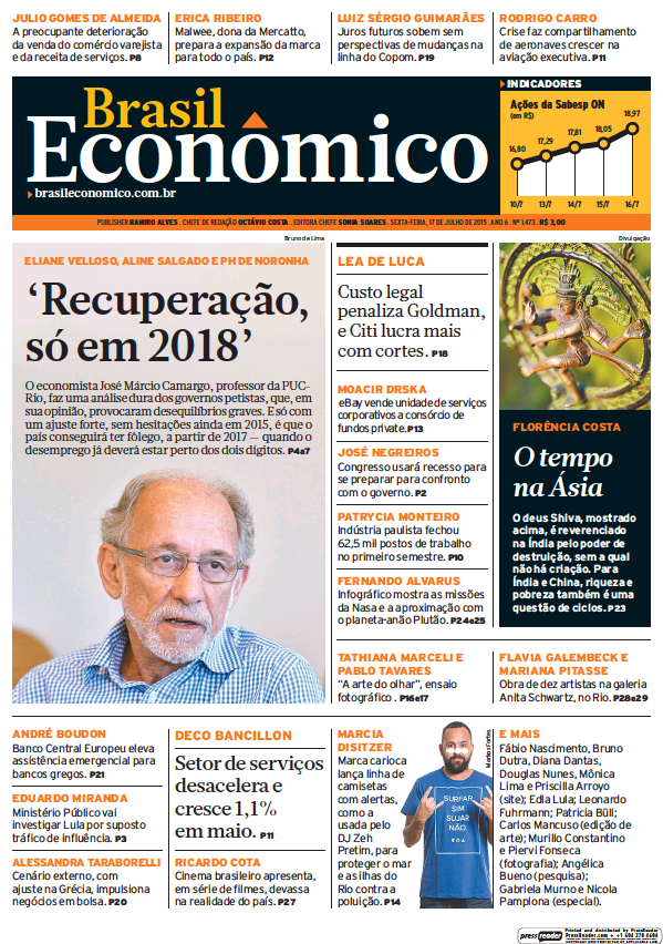 Read full digital edition of Brasil Economico newspaper from Brazil