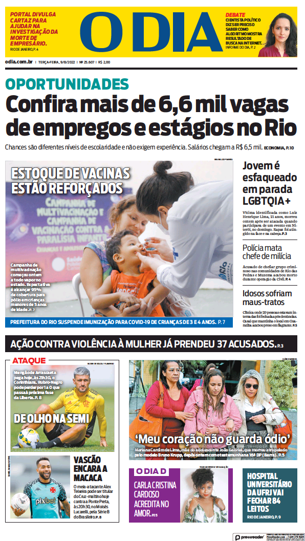 Read full digital edition of O Dia newspaper from Brazil