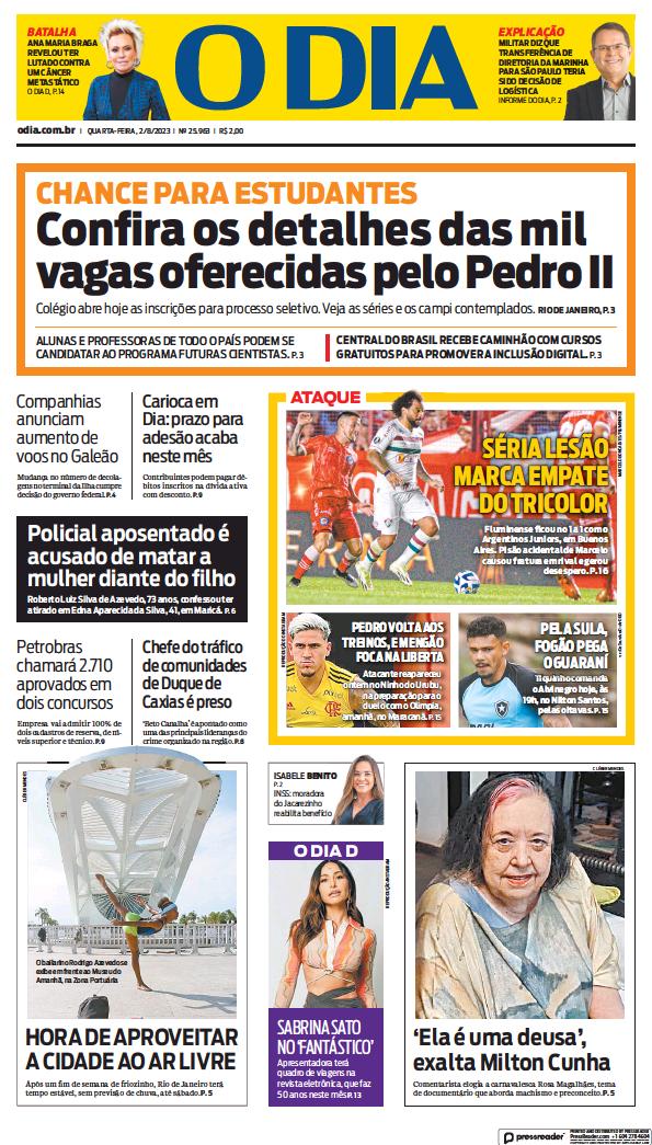 Read full digital edition of O Dia newspaper from Brazil