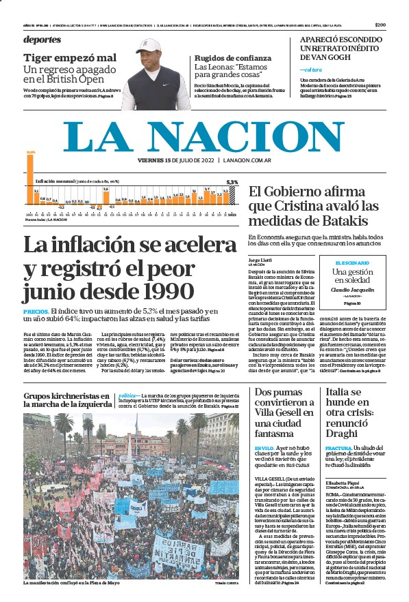 Read full digital edition of La Nacion (Combined) newspaper from Argentina