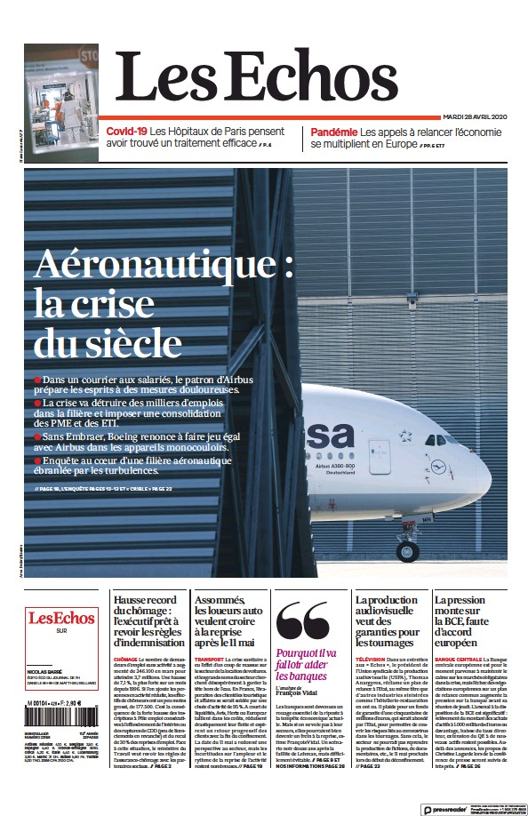 Read full digital edition of Les Echos newspaper from France
