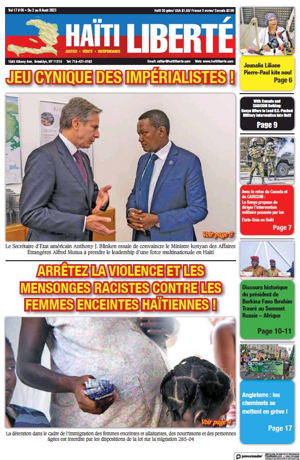 Read full digital edition of Haiti Liberte newspaper from Haiti
