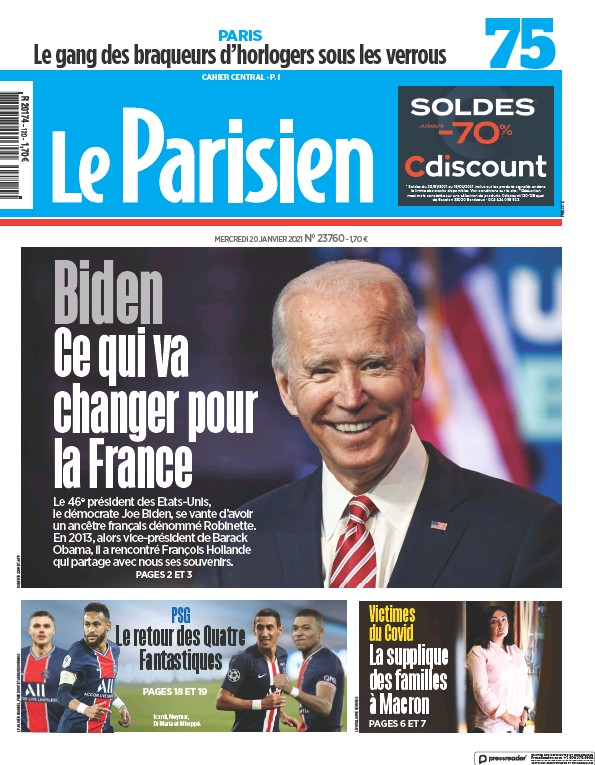 Read full digital edition of Le Parisien (Paris) newspaper from France