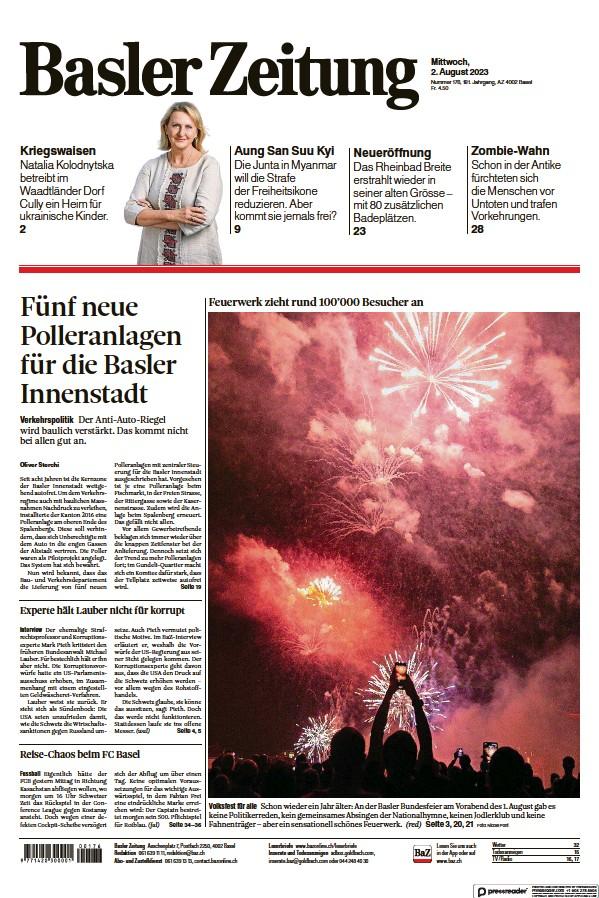 Read full digital edition of Basler Zeitung newspaper from Switzerland