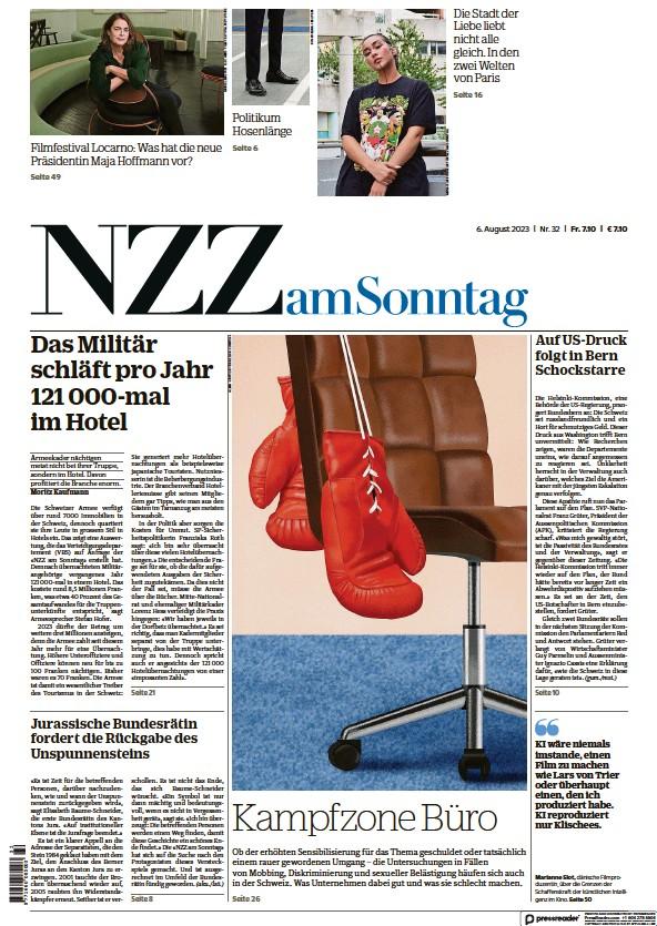 Read full digital edition of Neue Zurcher Zeitung am Sonntag newspaper from Switzerland