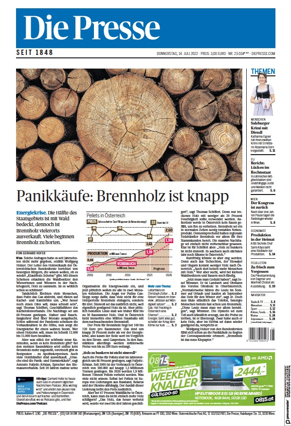 Read full digital edition of Die Presse newspaper from Austria