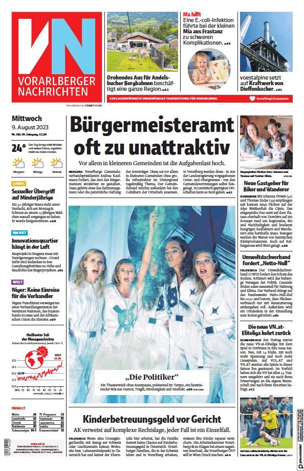 Read full digital edition of Vorarlberger Nachrichten newspaper from Austria