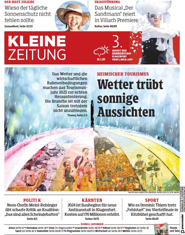 Read full digital edition of Kleine Zeitung Karnten newspaper from Austria