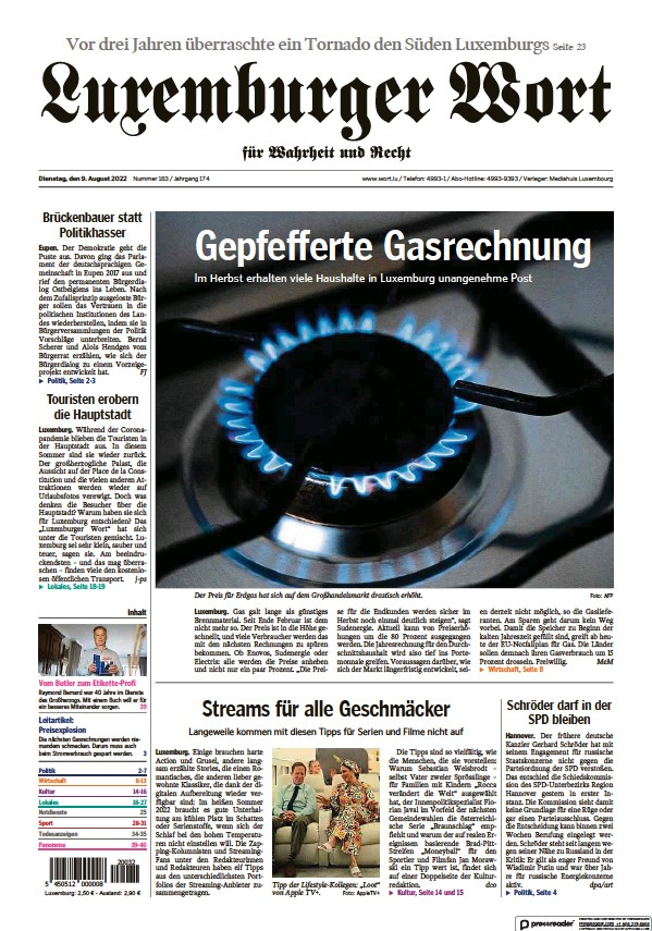 Read full digital edition of Luxemburger Wort newspaper from Luxembourg
