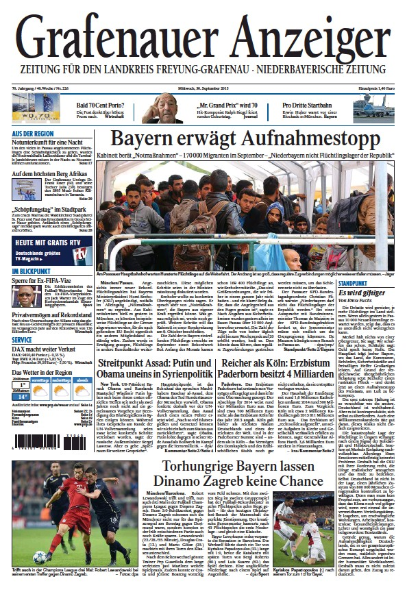 Read full digital edition of Grafenauer Anzeiger newspaper from Germany