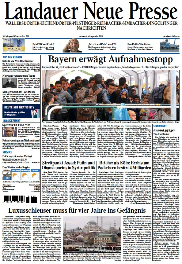 Read full digital edition of Landauer Neue Presse newspaper from Germany