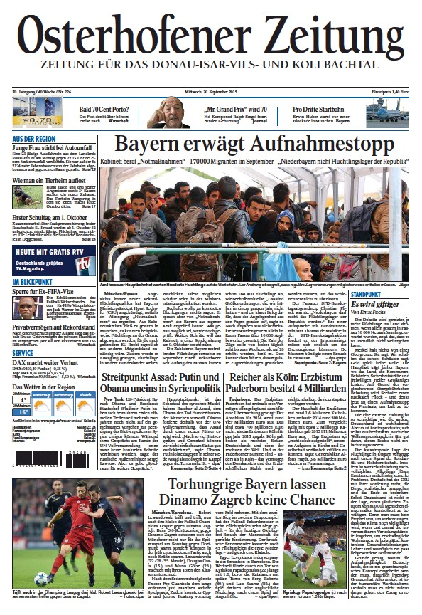 Read full digital edition of Osterhofener Zeitung newspaper from Germany