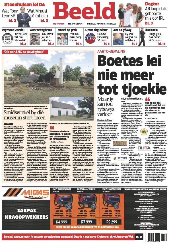 Read full digital edition of Beeld Digital newspaper from South Africa