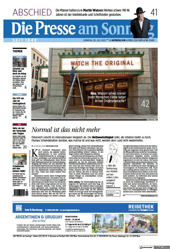 Read full digital edition of Die Presse am Sonntag newspaper from Austria