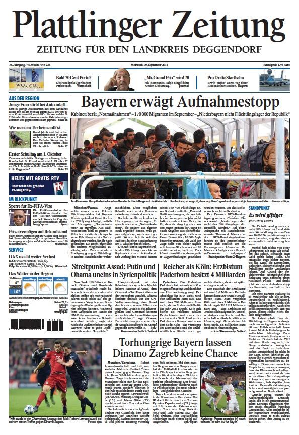 Read full digital edition of Plattlinger Zeitung newspaper from Germany