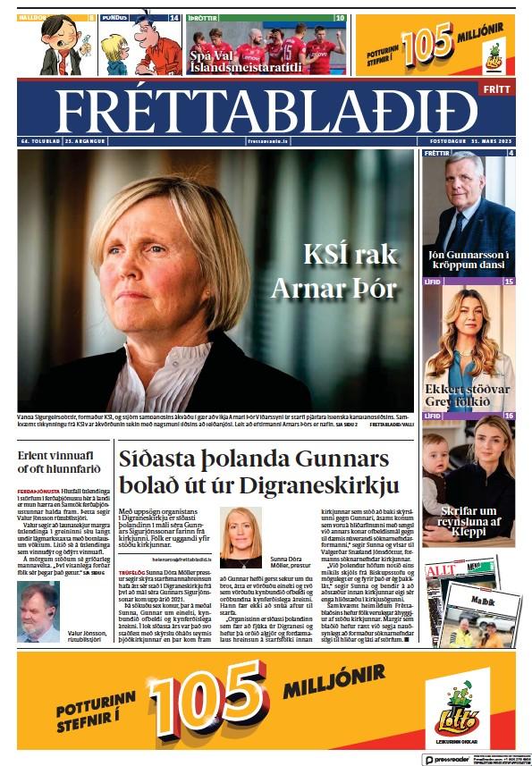 Read full digital edition of Frettabladid newspaper from Iceland
