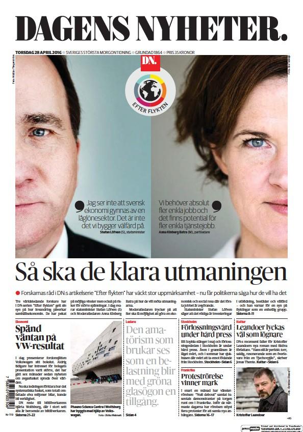 Read full digital edition of Dagens Nyheter newspaper from Sweden