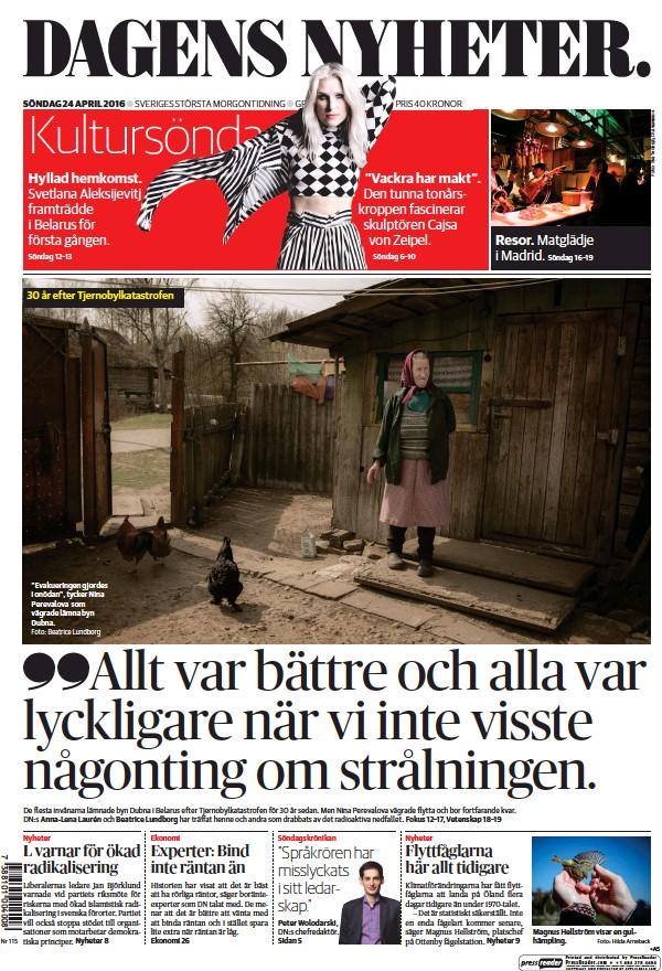 Read full digital edition of Dagens Nyheter Weekend newspaper from Sweden