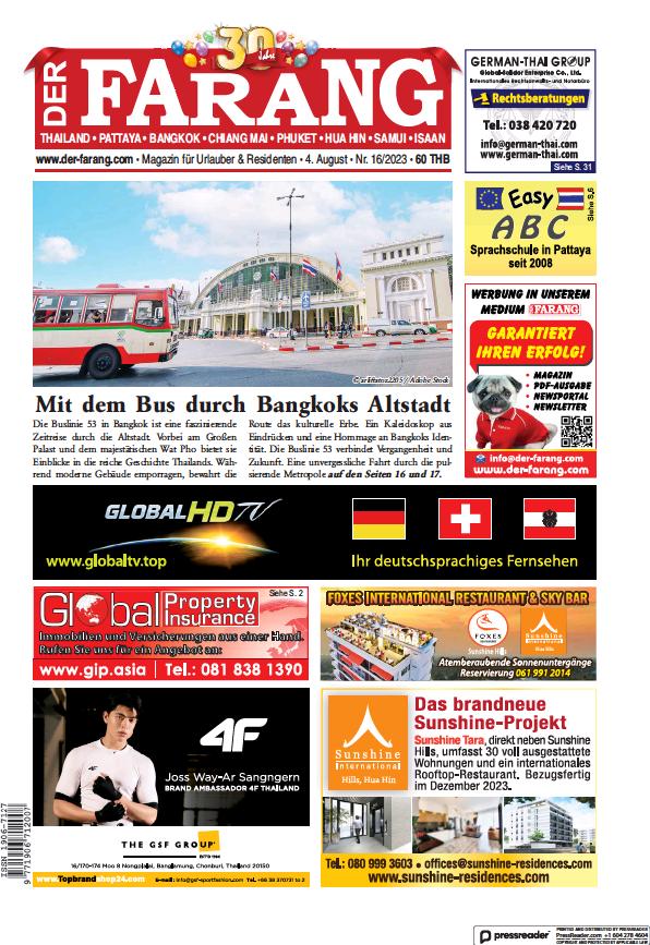 Read full digital edition of Der Farang newspaper from Thailand