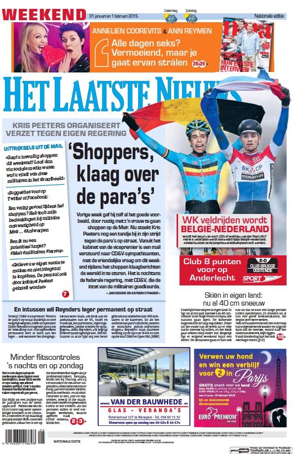Read full digital edition of Het Laatste Nieuws newspaper from Belgium